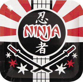 "Ninja Warrior 9"" Luncheon Plates (8 Pack)"