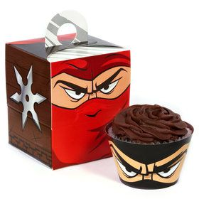 Ninja Warrior Cupcake Wrapper Box Kit