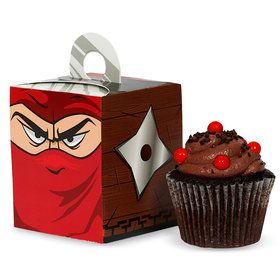 Ninja Warrior Party Cupcake Boxes