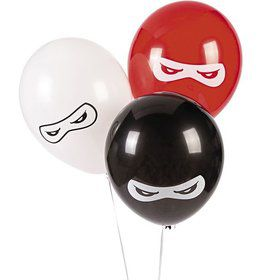 "Ninja Warriors 11"" Latex Balloons (25 Pack)"