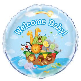 "Noah's Ark Baby Shower 18"" Foil Round Balloon"