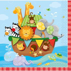 Noah's Ark Beverage Napkins (16 Pack)