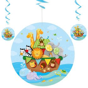 Noah's Ark Hanging Swirl Decoration (3 Pack)