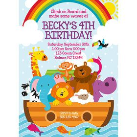 Noah's Ark Personalized Invitation (Each)