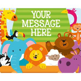 Noah's Ark Personalized Rectangular Stickers (Sheet of 15)