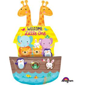 "Noah's Ark Welcome Baby 37"" Balloon (Each)"