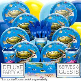 Ocean Birthday Party Deluxe Tableware Kit Serves 8