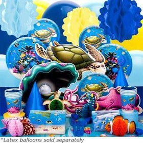 Ocean Birthday Party Ultimate Tableware Kit Serves 8