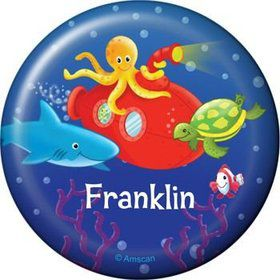 Ocean Friends Personalized Button (each)