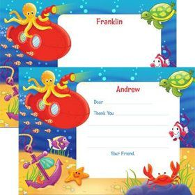 Ocean Friends Personalized Thank You Note (each)
