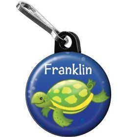 Ocean Friends - Turtle Personalized Mini Zipper Pull (each)