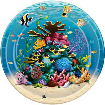 Ocean Birthday Party Supplies Dinner Plate 8ct Plates