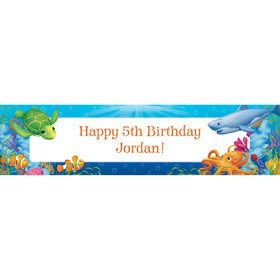 Ocean Party Personalized Banner (each)