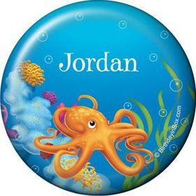 Ocean Party Personalized Button (each)