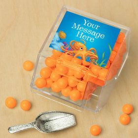 Ocean Party Personalized Candy Bin with Candy Scoop (10 Count)