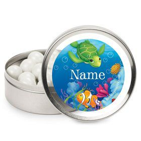 Ocean Party Personalized Candy Tins (12 Pack)