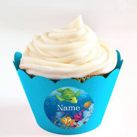 Ocean Party Personalized Cupcake Wrappers (Set of 24)