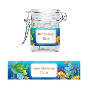 Ocean Party Personalized Glass Apothecary Jars (10 Count)