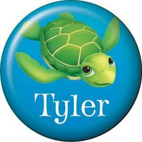 Ocean Party Personalized Mini Button (each)