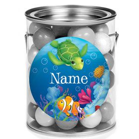 Ocean Party Personalized Mini Paint Cans (12 Count)