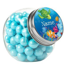 Ocean Party Personalized Plain Glass Jars (12 Count)