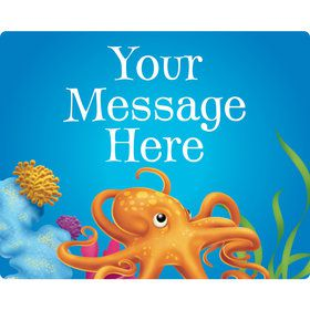 Ocean Party Personalized Rectangular Stickers (Sheet of 15)