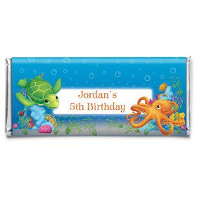 Ocean Personalized Candy Bar Wrapper (Each)
