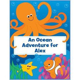 ocean personalized coloring book each