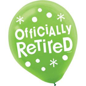 "Officially Retired 12"" Latex Balloons (15 Count)"