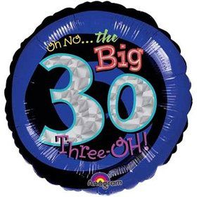 "Oh No! 30th Birthday 18"" Balloon (Each)"