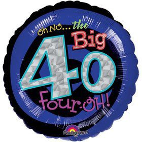 "Oh No! 40Th Birthday 18"" Balloon (Each)"