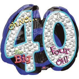 Oh No! 40Th Birthday Shaped Balloon