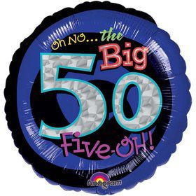 "Oh No! 50Th Birthday 18"" Balloon (Each)"
