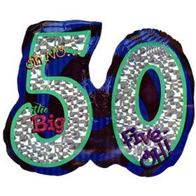 Oh No! 50Th Birthday Shaped Balloon