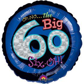 "Oh No! 60Th Birthday 18"" Balloon (Each)"