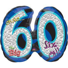 Oh No! 60Th Birthday Shaped Balloon