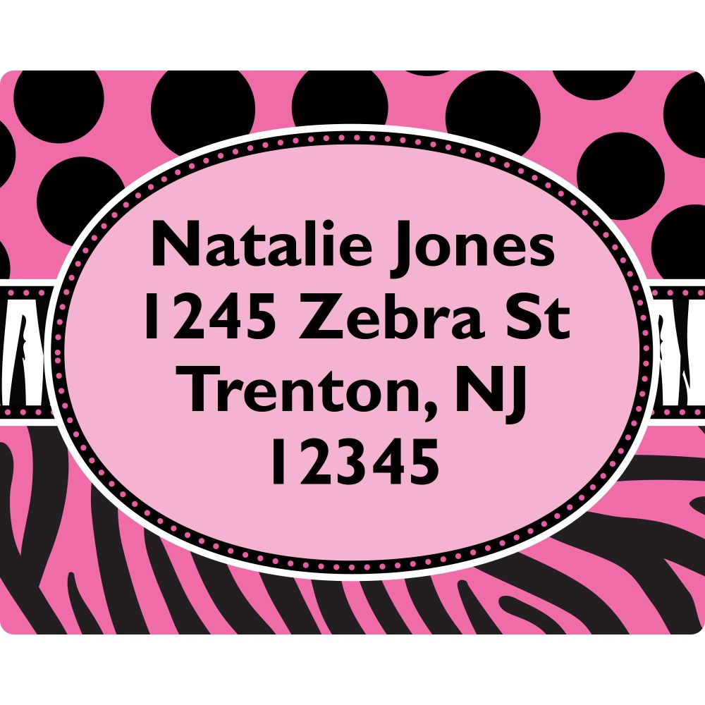 Oh So Fabulous Address Labels (Sheet Of 15) - Party Supplies BB700170AD
