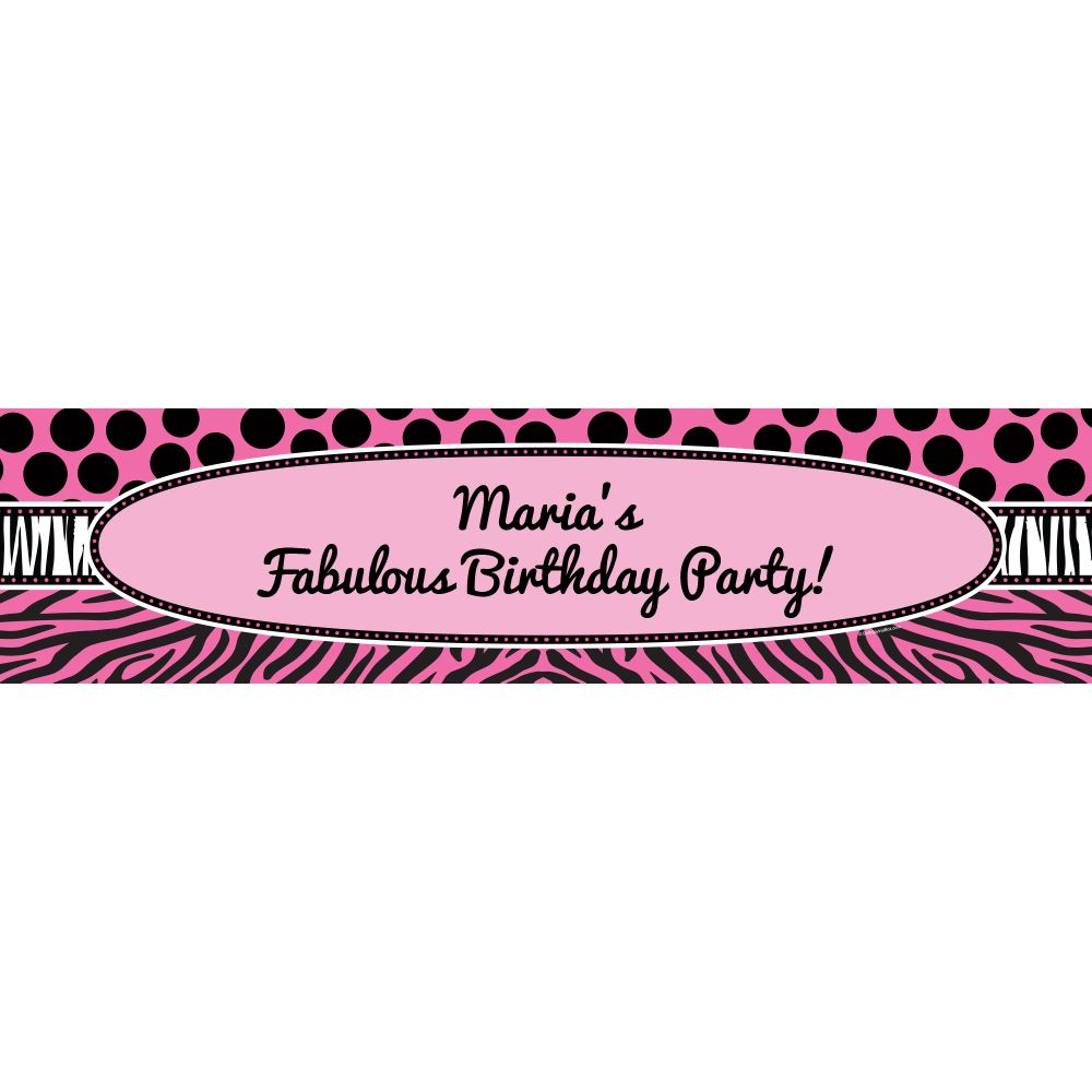 Oh So Fabulous Personalized Banner (Each) - Party Supplies BB700170BN