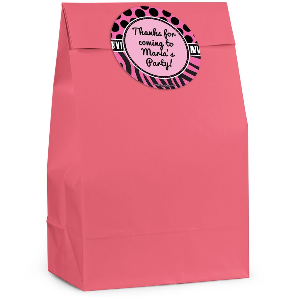 Oh So Fabulous Personalized Favor Bag (Set Of 12) - Party Supplies BB149FB