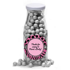 Oh So Fabulous Personalized Glass Milk Bottles (12 Count)