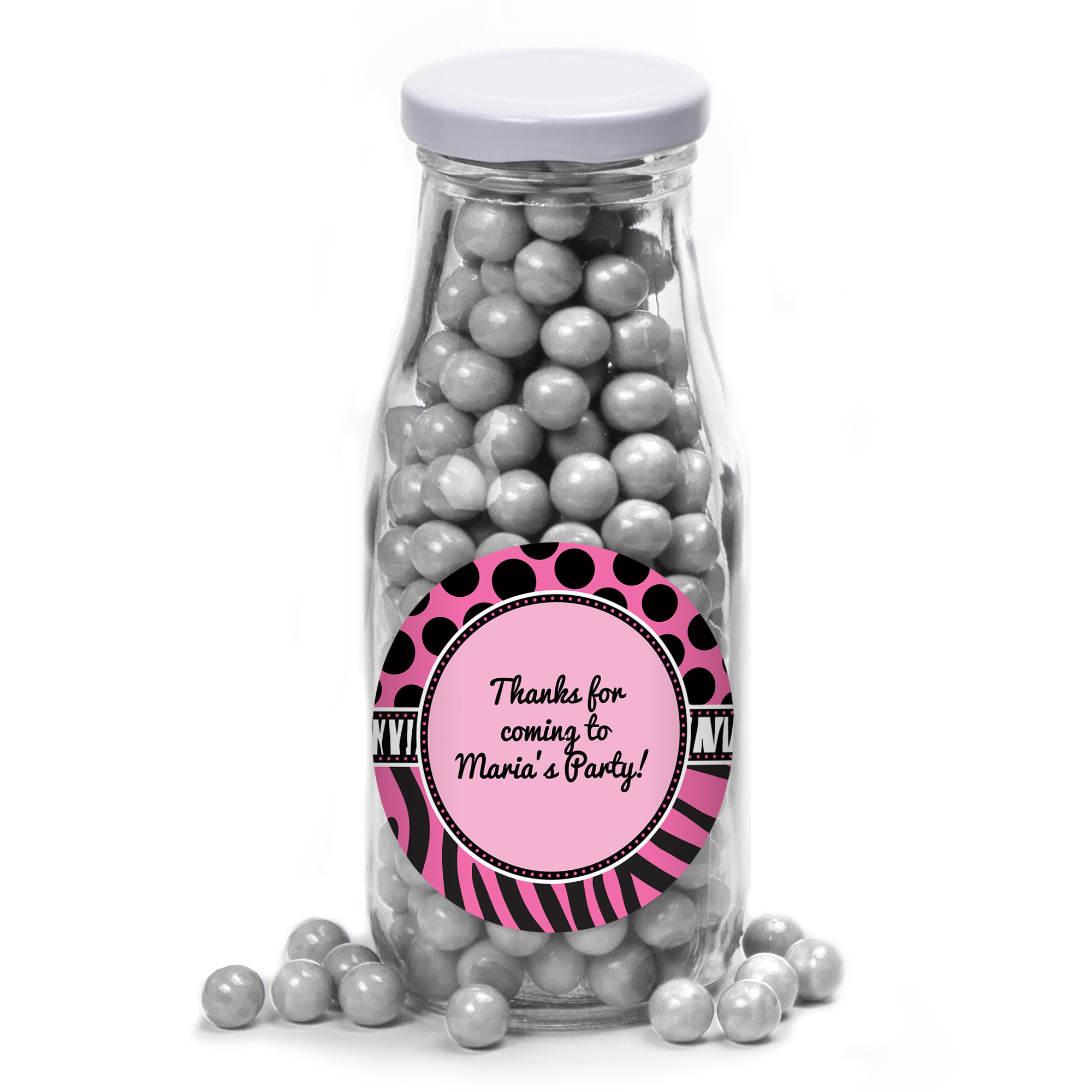 Oh So Fabulous Personalized Glass Milk Bottles (10 Count) - Party Supplies BB700170MB