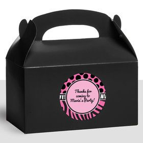 Oh So Fabulous Personalized Treat Favor Boxes (12 Count)