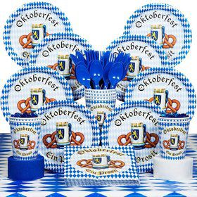 Oktoberfest Party Deluxe Tableware Kit Serves 8
