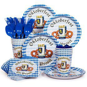 Oktoberfest Party Standard Tableware Kit Serves 8