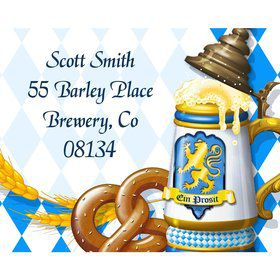 Oktoberfest Personalized Address Labels (Sheet of 15)