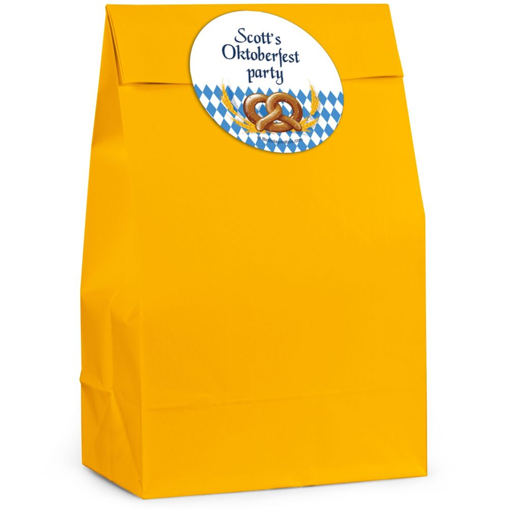Oktoberfest Personalized Favor Bag (Set Of 12) - Party Supplies BB265FB