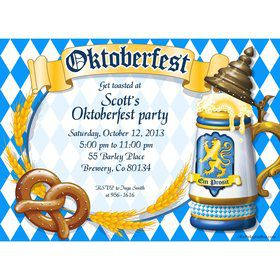 Oktoberfest Personalized Invitation (Each)