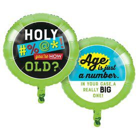 """Old Age Humor Just a Number 18"""" Foil Balloon (1)"""