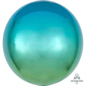 Ombre 16 Orbz Balloon - Blue/Green
