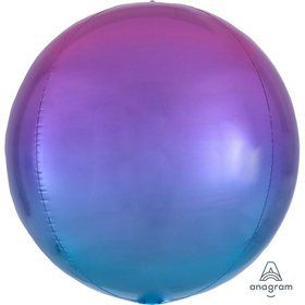 Ombre 16 Orbz Balloon - Red/Blue